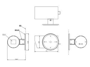 筒型カメラケース 屋内用 仕様 図面1