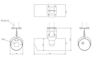 筒型カメラケース (Medium) 仕様 図面1