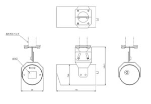 筒型カメラケース (Short) 仕様 図面1