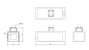 ステンレス型カメラケース (Short) 仕様 図面2