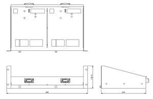60Wアンプ棚 仕様 図面1