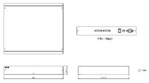 ビデオスキャンコンバーター オプション品 仕様 図面1