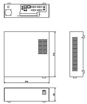 デジタルビデオレコーダー 小型据置型 仕様 図面1