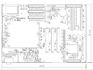 列車情報処理装置基板 仕様 図面1