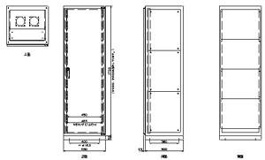 ラック架 A-2200 仕様 図面1