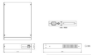 音声コンピューター RR21XⅡW 仕様 図面1
