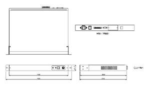 音声コンピューター RR21XⅢ 仕様 図面1