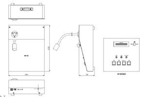 卓上型自動放送装置 仕様 図面2