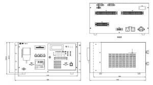 卓上型自動放送装置 仕様 図面1