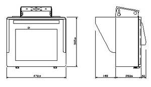 モニターハウジング1連 仕様 図面1