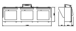 モニターハウジング3連 仕様 図面1