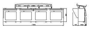 モニターハウジング4連 仕様 図面1
